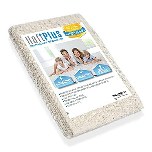 HaftPlus - Teppich Antirutschunterlage - Die Antirutschmatte für Teppiche, haftet ohne zu kleben, rutschfeste Teppichunterlage, Größe 140 x 200 cm