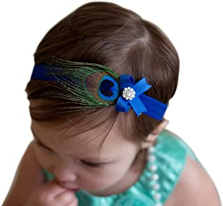 peacock feather headbands for babies