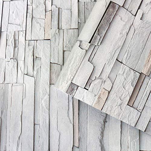 Papel pintado 3D con textura de piedra, papel pintado de piedra, papel pintado autoadhesivo para decoración de pared