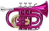 Classic Cantabile Brass TT-400B trompeta de bolsillo rosa