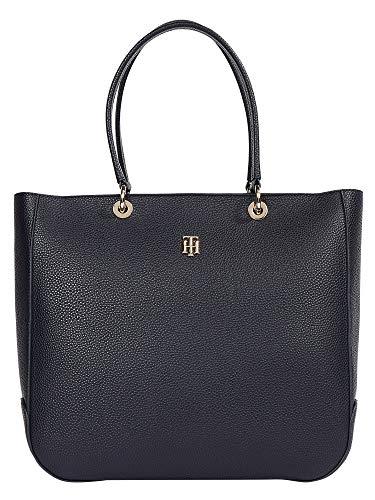 Tommy Hilfiger Damen Handtasche Tasche TH Essence Tote Blau AW0AW09699-DW5