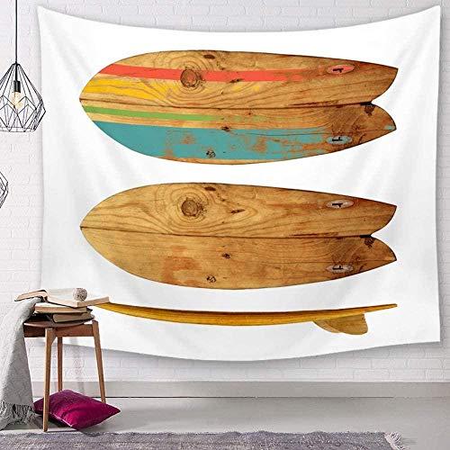 DUQQ Tapiz Tapices de Pared Tabla de Surf de Madera Minimalista Seaside Holiday Tela de Decoración de Arte Tela para Sala de Estar Dormitorio 150×130Cm-150×130Cm