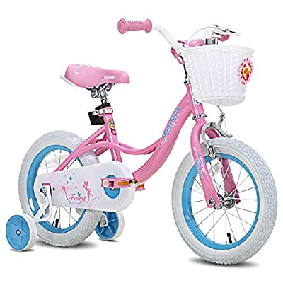 JOYSTAR 14 Inch Kids Bike for Ages 3 4 5 Years Girls, Toddler Bike with Training Wheels for 3-5 Years Old Child, Pink