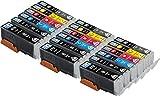 Pack de 18 Skia Cartouches d'encre Canon CLI-571 PGI-570 PIXMA MG7750 MG7751 MG7752 MG7753 TS8050 TS8051 TS8052 TS8053 TS9050 TS9055