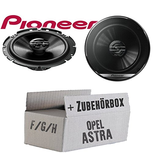 Opel Astra F,G,H - Lautsprecher Boxen Pioneer TS-G1720F - 16cm 2-Wege Koax Koaxiallautsprecher Auto Einbausatz - Einbauset