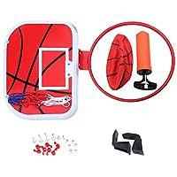 ミニ バスケットボールボード バスケットゴール ボール・空気ポンプ付き 壁掛け・ドア掛け式 室内屋外兼用 レジャー ファミリースポーツ