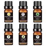 6PCS 10ML Juego De Aceites Esenciales Puros De Aromaterapia Sin Aditivos Aceite De Fragancia, Regalo De Aceites De Aromaterapia Superior