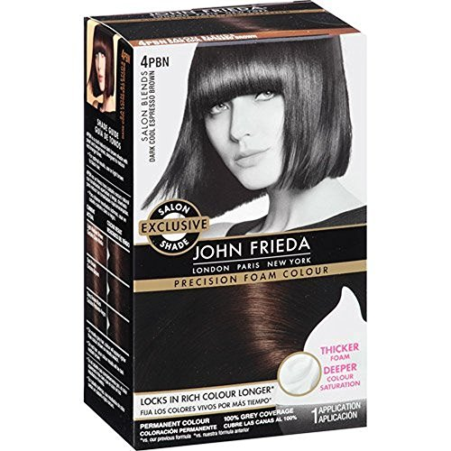 Price comparison product image Sheer Blonde John Frieda Precision Foam Hair Colour 4Pbn Dark Cool Espresso Brown,  1 ct (Pack of 2)