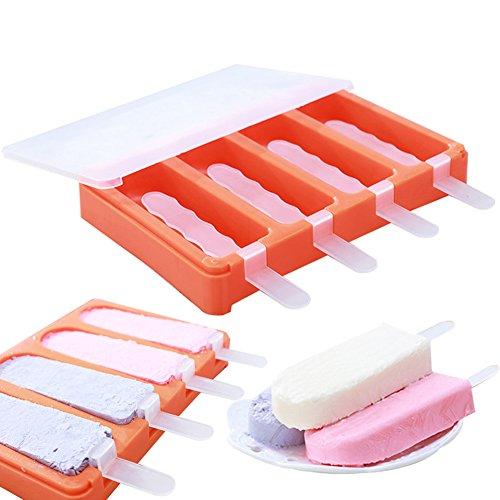 naisicatar moldes de hielo con tapas helado Pop molde Popsicle Molde Popsicle Maker molde herramienta Diy molde para cubitos de hielo Ice Cube cubitos Caja CUBITERA