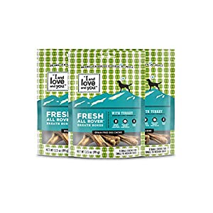 I and love and you Fresh All Rover Dental Bones – Grain Free Dog Treats, 5 Chews, Pack of 3