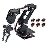 WYY Robot DIY Mak-Er 6 GDL Bricolaje Brazo del Robot, Aleación del Metal De Manipulador Mecánico Abrazadera Garra Kit, para Arduino Robótica Educación, Tallo Juguetes Educativos,Seta
