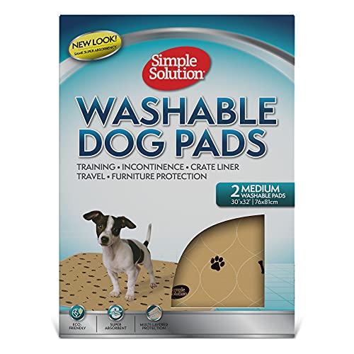 simple solution 2er Pack waschbare Pads für Hunde