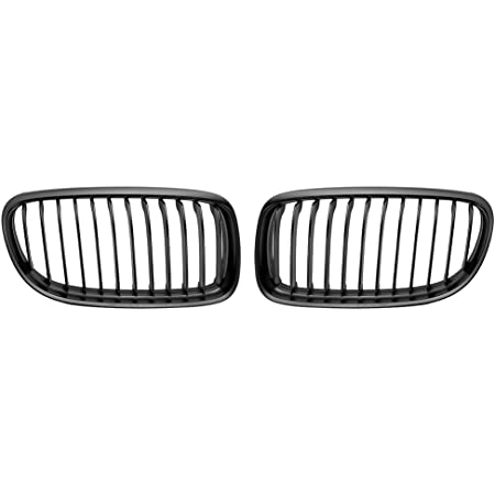 Monland Front Meteor Grill Grilles Kidney Grill Replacement For 3 Series E90 E91 06-08 Bright Black