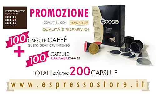 Mokiespresso 200 capsule Lavazza Blue DEK compatibili