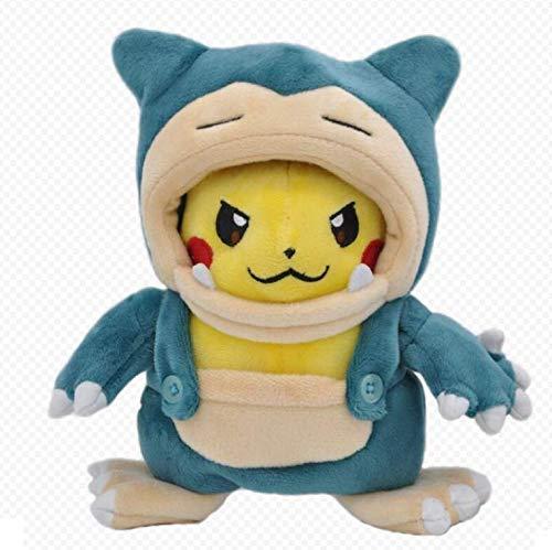 XINRUIBO Pokemon Pikachu Kabi weiches Plüsch-Spielzeug Füllung Plüsch-Puppe Cartoons Anime Kissen for Kinder 20Cm Pikachu Kuscheltier