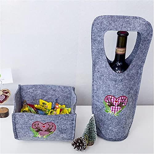 Mvude Portavasos y Bolsas de Vino Porta Botellas de Vino Grueso para Amantes del Vino,como descripción
