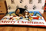 KosiPet® SPARE COVER ONLY For Dog Bed,Dog Beds,Pet Bed,Dogbed,Dogbeds,Petbed,Petbeds, (MERRY CHRISTMAS, EXTRA LARGE)