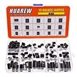 HUAREW 15 Values 140 Pcs Opamp Timer Darlington Phototcoupler PC817 LM358P TDA2822 LM386 LM393 UA741CN NE555P TDA2030A NE5532P JRC4558D LM324N LM339N PT2399 ULN2003AN ULN2803APG IC Assortment Kit