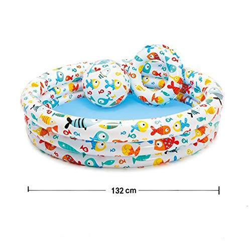 UNIVIEW PVC Inflable del bebé Agujero Piscina Bola de Drenaje niños Nadar Piscina for niños bañera Piscina portátil apropiado for los niños Que juegan en Verano (Color : Fish)