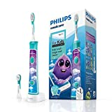 Philips Sonicare for Kids Electric Toothbrush with Bluetooth, Coaching App, 2 Brush Heads