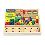 Melissa & Doug- Construction Building Set in a Box construcción de Madera, Multicolor (15151) , color/modelo surtido