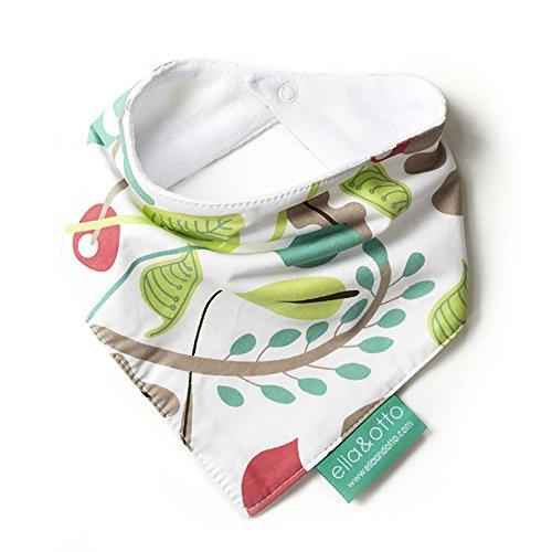 ella & otto Bavoir bandana pour bébé Motif feuilles