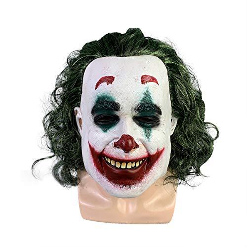 yacn Joker Payaso Máscara Espeluznante de Halloween Má