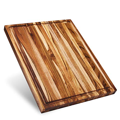 Sonder Los Angeles, Large Reversible Teak Wood Cutting Board, 18x14x1.25in with Juice Groove (Gift Box Included)