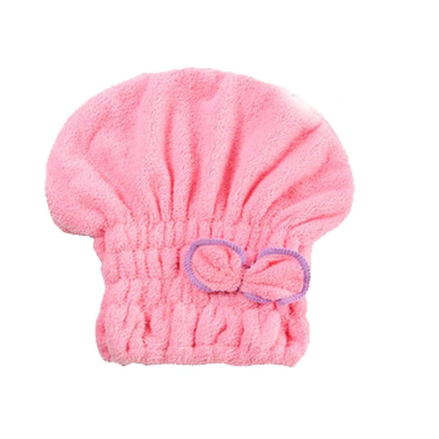 何か見つける聴覚障害者シャワーキャップ、女性用ドライシャワーキャップ女性用のデラックスシャワーキャップ長さと太さ、再利用可能なシャワー。 (Color : Pink)
