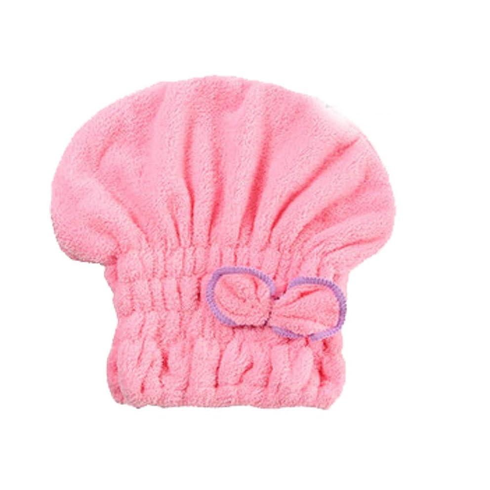 クラックギャップ病気シャワーキャップ、女性用ドライシャワーキャップ女性用のデラックスシャワーキャップ長さと太さ、再利用可能なシャワー。 (Color : Pink)