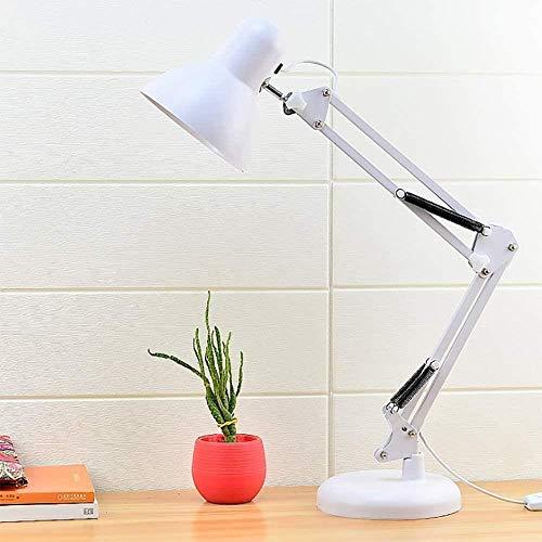 Led licht lange arm oog kleine tafellamp for meisje jongens kind bed woonkamer Woonkamer Slaapkamer Eetkamer Study Room, Wit, Kleur: Zwart (Color : White)