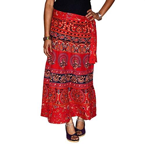 indischen Wickelrock Bedruckte Baumwolle Pfau Gypsy Sarong und Rock um