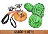 Slack-Liners Slackline-Set, 10 m lang, 2,5 cm breit