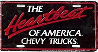 Chevy Trucks Heartbeat of America License Plate