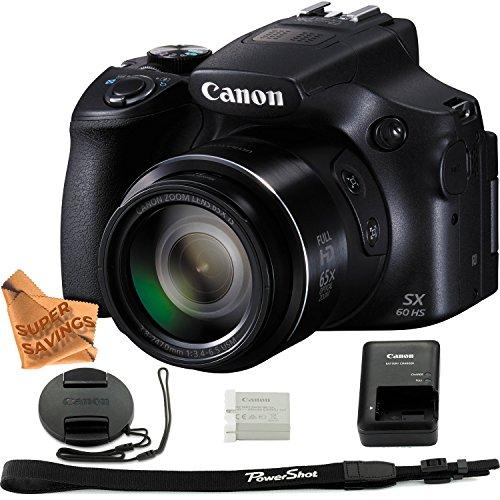 Canon Powershot SX60 16.1MP Digital Camera 65x Optical Zoom Lens 3-inch LCD Tilt...