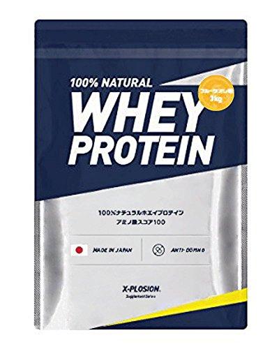 エクスプロージョン ホエイプロテイン 3kg 約100食分 フルーツオレ味 大容量 国産