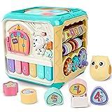 Rabing Montelissou - Cubo de actividades para bebé, 6 en 1, para niños de 6 a 18 meses, juguete educativo musical, para niños y niñas de 1 a 6 años