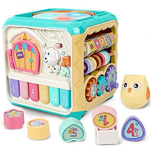 Rabing baby activity cube Juguetes, juguetes musicales, juguetes divertidos multifuncionales, juguetes de educación temprana, juguetes para niños y niñas de 1 2 3 4 años