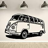 Travel Camper VanVinyl Etiqueta de la pared Travel Bus Style Wall Decal Movable Camper Tribute Wall Art Poster Decoración del coche Mural A7 68x42cm