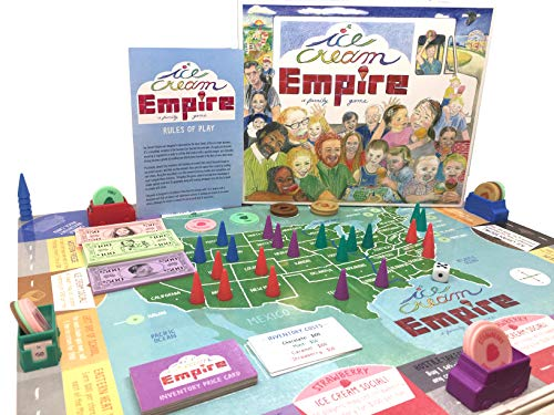 Ice Cream Empire - a Fun Family Game! by Building a Business One Scoop at a Time, Children of All Ages and The Kids Inside Us All are Inspired to be Entrepreneurs Enjoying This Ice Cream Social Game!