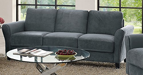 Lifestyle Solutions Watford Sofa in Grey, Dark