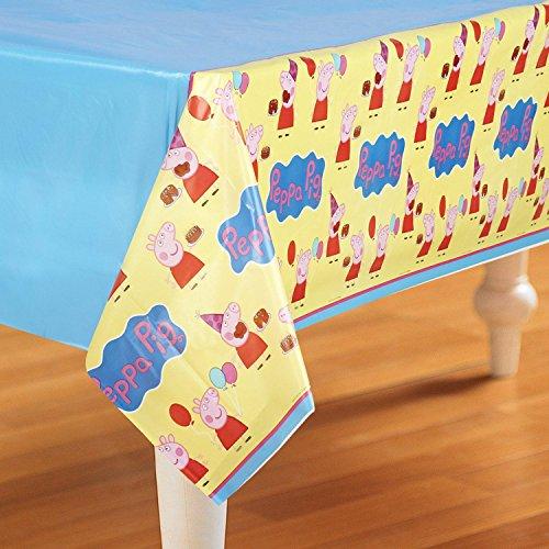American Greetings Peppa Pig Plastic Table Cover, 54 x 96\