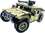 Modèle Building Britics Radio Control Toy, Kit de voiture de réservoir 502 PCS avec batterie rechargeable USB, construction Construire vous-même des jouets pour les enfants cadeaux puzzle 8bayfa