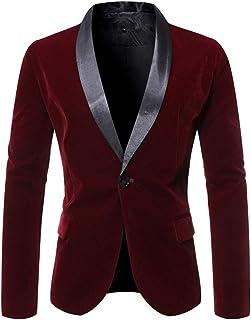 Zytyeu Men's Blazer Casual Blazer Single Breasted Jacket Casual Business Formal Wear Classic Retro Elegant Blazer Prom Wed...