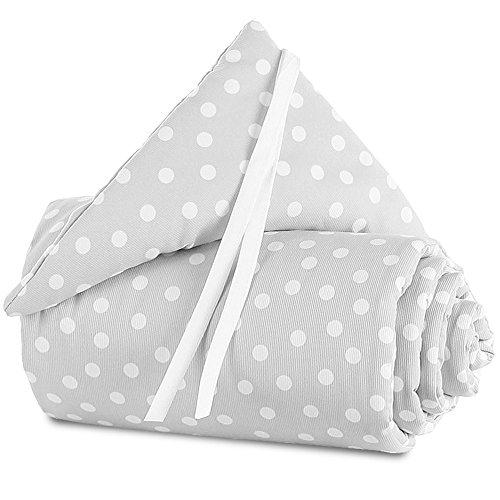 babybay Nestchen Piqué passend für Modell Original, perlgrau Punkte weiß