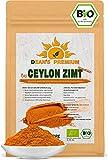 CEYLON ZIMT BIO 500g | Zimt Pulver BIO arm an Cumarin 100% echtes Zimt Ceylon | Premium Qualität abgefüllt und kontrolliert in Deutschland | Verpackung ohne Aluminium Dean's Premium