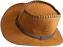 Majik Classic Fedora Hats for Horse Riding for Men and Boys, Dark Brown, 25 Gram, Pack of 1