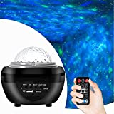 MOAMDAUT Star Night Lights Projector with Music Player Ceiling Starlight Projector Light for Baby Bedroom Game Rooms Party Home Theatre Night Light