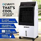 Devanti Portable Air Conditioner Evaporative Air Cooler Potable Fan Cooling Remote Control LED