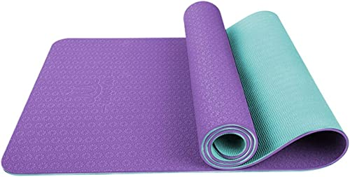 ASJHK Tapis de Yoga TPE Tapis de Yoga épaississement Anti-dérapant Femme Yoga Danse débutant Fitness Mat Mat Sport Tapis de Yoga (Couleur   E, Taille   8mm)